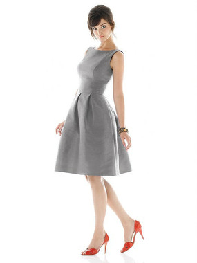 Alfred Sung Dress Style D448 - Quarry - Dupioni - In Stock Dress