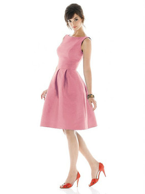 Alfred Sung Dress Style D448 - Papaya - Dupioni - In Stock Dress
