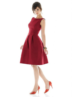 Alfred Sung Dress Style D448 - Barcelona - Dupioni - In Stock Dress