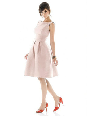 Alfred Sung Dress Style D448 - Pearl Pink - Dupioni - In Stock Dress
