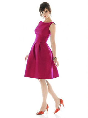 Alfred Sung Dress Style D448 - Sangria - Dupioni - In Stock Dress