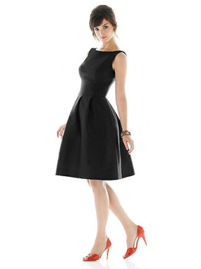 Alfred Sung Dress Style D448 - Black - Dupioni - In Stock Dress