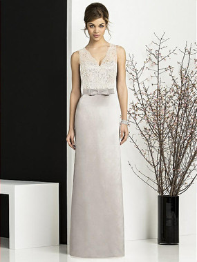 After Six Dress Style 6675 - Oyster/Ivory - Matte Satin - In Stock Dress