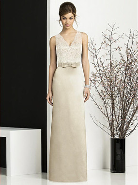 After Six Dress Style 6675 - Palomino/Ivory - Matte Satin - In Stock Dress