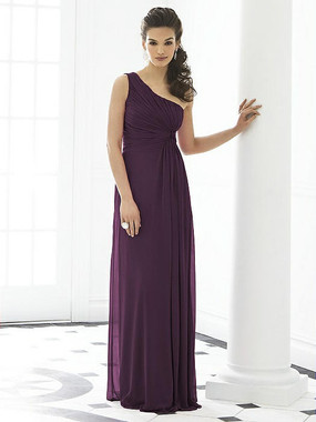 After Six Dress Style 6651 - Aubergine - Lux Chiffon - In Stock Dress
