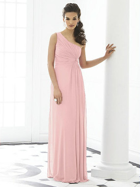 After Six Dress Style 6651 - Rose - Pantone Rose Quartz - Lux Chiffon - In Stock Dress