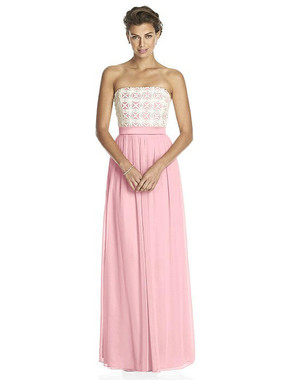 Lela Rose Dress Style LR204 - Rose - Pantone Rose Quartz/Ivory - Crinkle Chiffon - In Stock Dress