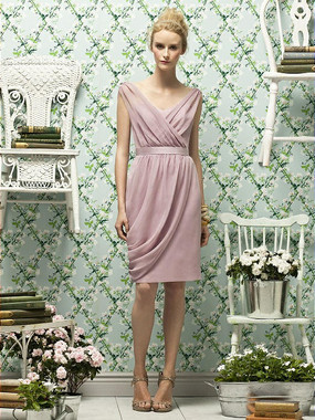 Lela Rose Dress Style LR178 - Suede Rose - Crinkle Chiffon - In Stock Dress