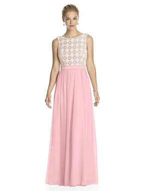 Lela Rose Dress Style LR182 - Rose - Pantone Rose Quartz/Ivory - Crinkle Chiffon - In Stock Dress