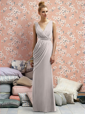 Lela Rose Dress Style LR174 - Taupe - Crinkle Chiffon - In Stock Dress