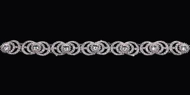 En Vogue Bridal Belt Style BT1783 - rhinestone belt with organza ties