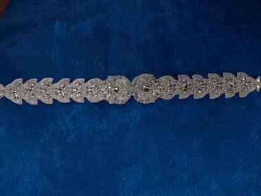 Marionat Bridal Belt 1058 - Silver Rhinestone Belt