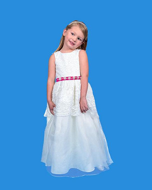 Rosebud Fashions Flower Girl Dresses - Style 5125 - Organza & Lace