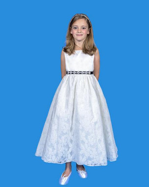 Rosebud Fashions Flower Girl Dresses - Style 5124 - Satin and Lace