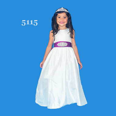 Rosebud Fashions Flower Girl Dresses Style 5115 -  Dupioni Silk