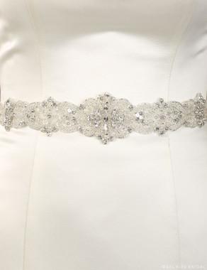 Bel Aire Bridal Belt BT070 - Rhinestone & crystal sash