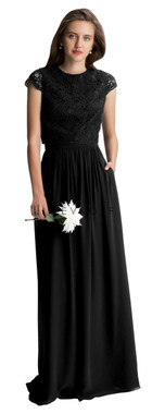 Bill Levkoff Bridesmaid Dress Style 1427 - Corded Lace & Chiffon
