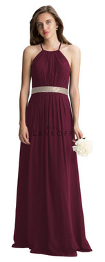 Wine and Rose Sequin Belt (Example) -  Bill Levkoff Bridesmaid Dress Style 1415 - Chiffon & Sequin Net