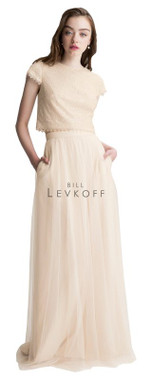 Bill Levkoff Bridesmaid Dress Style 1425 - English Netting & Sequin Net