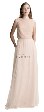 Bill Levkoff Bridesmaid Dress Style 1426 - English Netting & Sequin Net