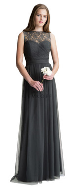 Bill Levkoff Bridesmaid Dress Style 1423 - English Netting & Corded Lace