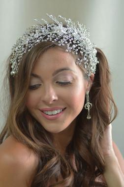 Elena Designs E866 - Rhinestone spray headband