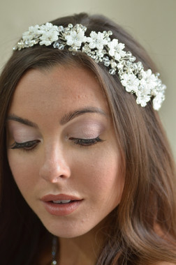 Ansonia Bridal 8727 - Beaded flower & crystal headband