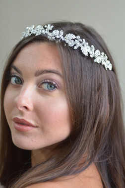Ansonia Bridal 8732 - Rhinestone leaf headband
