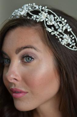 Elena Designs E861 - Pearl & stone headband