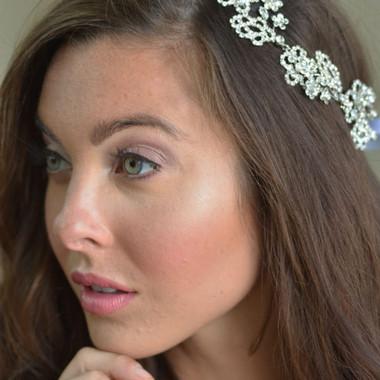 Elena Designs E865 - Flower & rhinestone headband