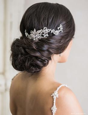 Bel Aire Bridal 6725 - Weaving garland of rhinestones