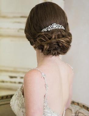 Bel Aire Bridal 6711 - Arching crescent comb
