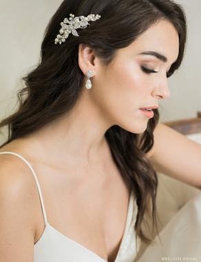 Bel Aire Bridal 6719 - Petite rhinestone and pearl comb