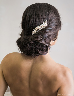 Bel Aire Bridal 6739 - Petite beaded flower and rhinestone com