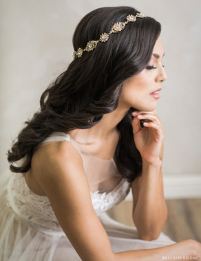 Bel Aire Bridal Headband 6700 - Vintage-inspired flower halo