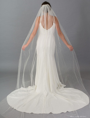 Bel Aire Bridal Veils V7410C - 1-tier cathedral veil scattered with rhinestones
