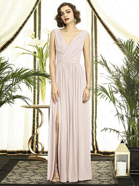 Dessy Bridesmaids Style 2894 By Vivian Diamond - BLUSH COLOR -  IN STOCK DRESS - QUICK SHIP