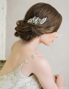 Bel Aire Bridal 6701 - Lace and leaf tie headband