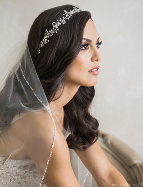 Bel Aire Bridal 6740 - Flexible rhinestone, crystal, and pearl garland