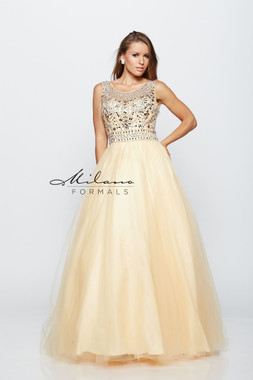 Milano Formals E2180 - Beaded Ball Gown
