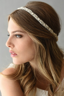 Erica Koesler Headband A5572 - Tulle Beaded Headband