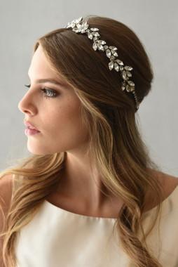 Erica Koesler Headband  A-5568 - Rhinestone Halo - Margarita & Navettes Stones