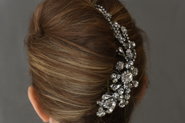 Erica Koesler Headpiece Comb  A-5580 - Curved Rhinestone Comb