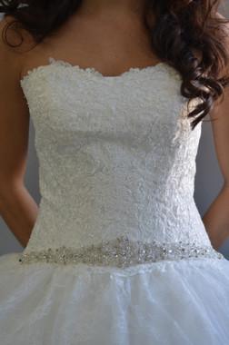 Elena Designs Wedding Sash Style E840 - Embellished Wedding Belt