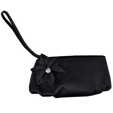 Liz Rene Handbag Hazel - B709 Black Satin