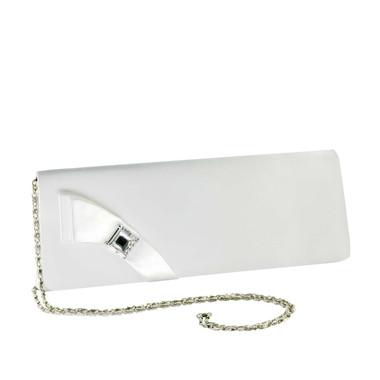Liz Rene Handbag Heather - B710 White Satin