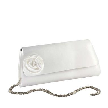 Liz Rene Handbag Casey - B713 White Satin