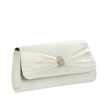 Liz Rene Handbag Brandy - B727 White Silk Satin