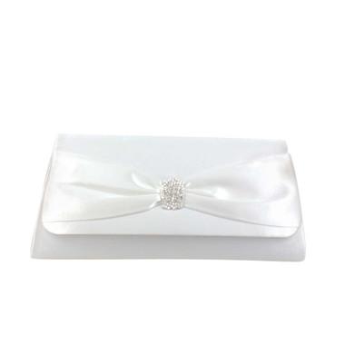 Liz Rene Handbag Brandy - B728 White Satin