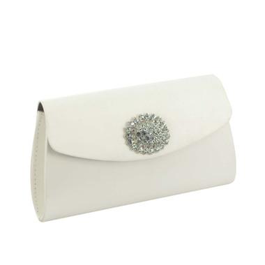 Liz Rene Handbag Model- B758 White Slik Satin
